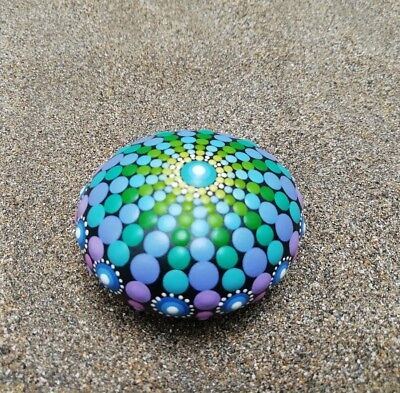 Sea urchins Stone hand painted. Summer Collection 16. dotart Stone- Painted Rock