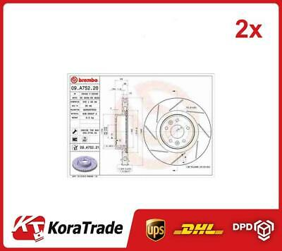 2x Brake Discs Pair Vented Front 340mm BBD6134S Borg /& Beck Set 402060019R New