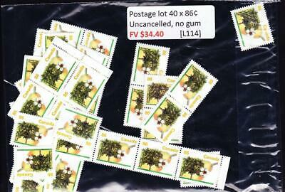 Canada postage lot 40 x 86¢, FV $34.40, no glue, uncancelled [L114]