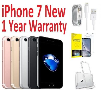 Apple iPhone 7 - 32 128 256 GB - Black, Silver, Gold, Rose Gold (Unlocked)+Gift