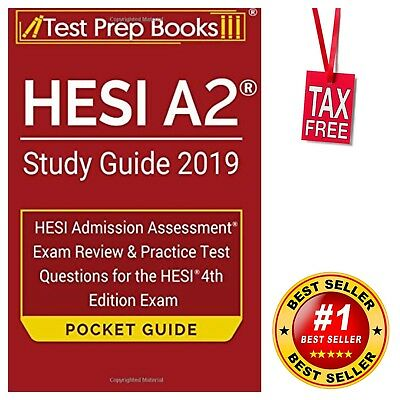 HESI A2 Study Guide 2019 Pocket Guide Exam Review & Practice Test Questions