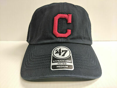 low priced 8667f 09802 Cleveland Indians Franchise  47 Brand Fitted Cap Unstructured Navy Hat MLB
