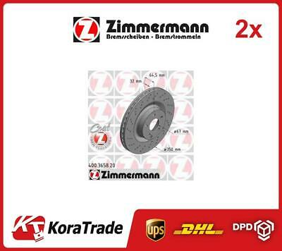 2x 400365820 ZIMMERMANN OE QUALITY BRAKE DISC SET