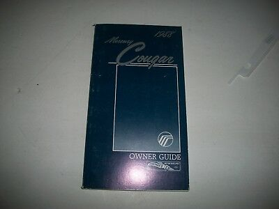 Nos 1988 Mercury Cougar Owner Guide (Owners Manual) New Unused