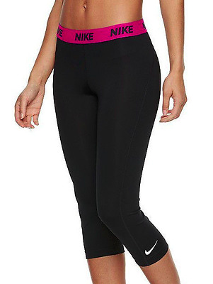 64bffdd34f0f2 Nike Women's Cool Victory Base Layer Black/Pink Running Capris (824405)  Size S