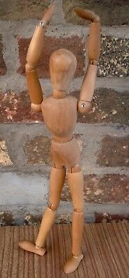 Small wooden artists free standing mannequin poseable