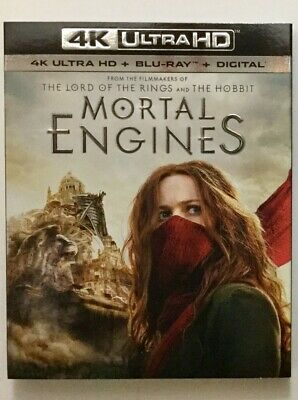 Mortal Engines 4K Blu-ray Digital Slipcover Brand NEW FREE~First Class Shipping!