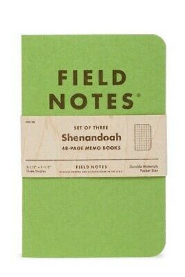 Field Notes Shenandoah Limited Edition Sealed 3 Pack of Notebooks Memo Books NEW