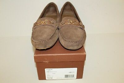 bcb19737fc8 Coach Womens Loafer Shoes Size 10 B Fortunata Java Brown Suede Leather Flats