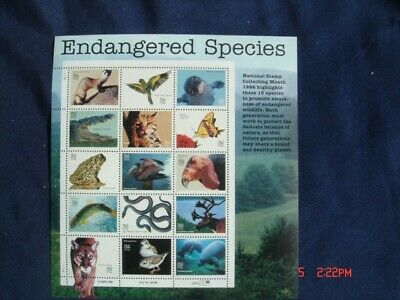 Endangered Species 32c Stamps Full Sheet (15) Mint NH Sc#3105a-o CP0637A