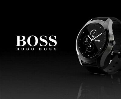 bff3c829e HUGO BOSS TOUCH 46mm Smartwatch Black - $189.00 | PicClick CA