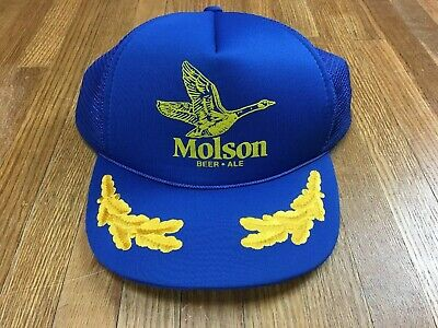 c720fff467e Vintage Molson Canadian Mesh Trucker Hat Embroidered 1980s Beer Alcohol