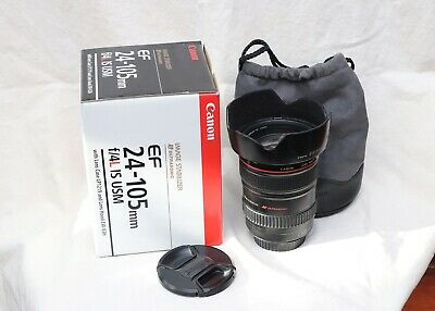 Canon EF Zoom 24-105mm f/4 L IS USM 1:4 Camera Lens with Hood