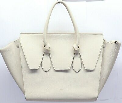 5f2b399c74 CELINE Crisped Calfskin Small Tie Tote Medium Cream color with dust bag