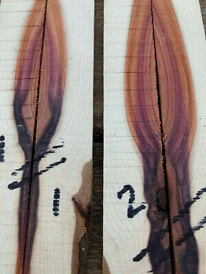 English yew bookmatched razor scale / small knife handle / veneer set 3-6mm T