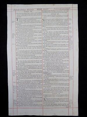 1680 Oxford First Folio King James Bible Leaf*ecclesiastes 3:1-7:10* Page*a Time