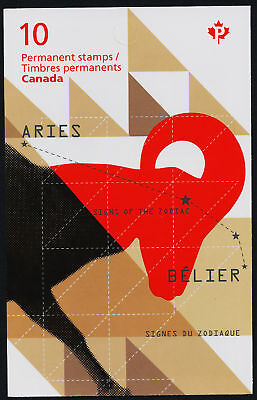 Canada 2449a Booklet MNH Aries, Sign of Zodiac