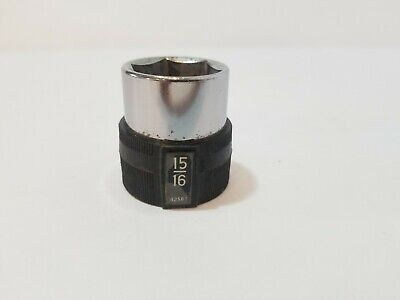 """HTF Vintage Craftsman USA Stainless Socket 1/2"""" Inch Drive 15/16 42588 6 Point"""