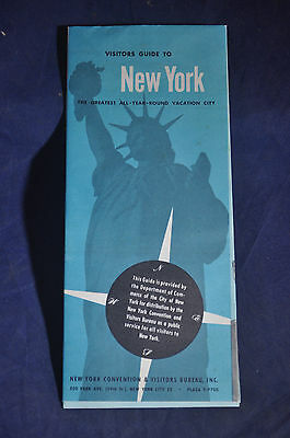 1953 Visitors Guide to New York City and Map