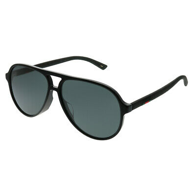 a8cd3fd0a2f89 GUCCI GG 0199S 001 Black Plastic Shield Sunglasses Grey Lens ...