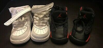 detailed look da574 a2e92 NIKE~AIR JORDAN~BABY TODDLER~W/ Free Air Force Ones. Both ...