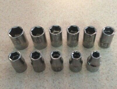 "Craftsman 11pc LASER ETCHED Socket Set 6pt 1/2"" Drive MM Metric Easy Read"