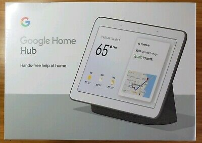 Google Home Hub with Google Assistant - GA00515-US Brand New Sealed Charcoal