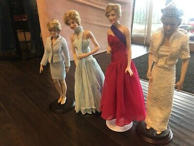 Franklin Mint Princess Diana Doll Lot