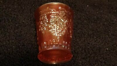 "Northwood Grape & Cable Carnival Glass Marigold 2 3/4"" Shot Glass ULTRA RARE"