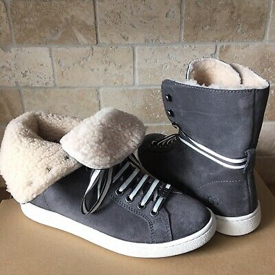 4abb06bdbd0 UGG AUSTRALIA STARLYN Sneaker Suede Charcoal Grey COLOR HIGH TOP ...