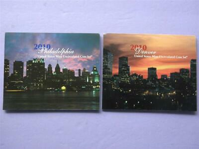2010 P&d United States Philadelphia & Denver Mint 28 Coin Set Unc With Coa