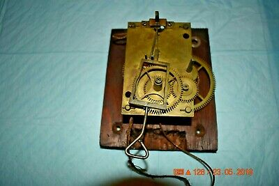 Antique Vintage one weight driven Wall Clock movement only for parts or project