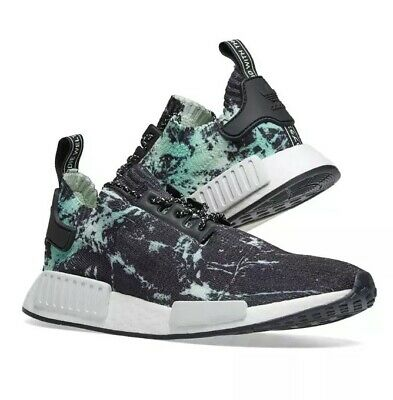 3772f3644 Adidas Nmd R1 Energy Marble Primeknit Black Green Boost Shoes Us10  Deadstock New