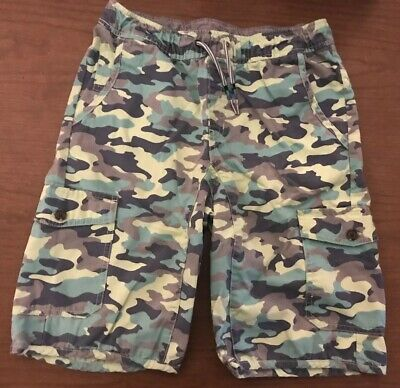 632f70d8fc Cat & Jack Target Boys Green Camo Cargo Shorts Side Pocket Drawstring Size  16 XL