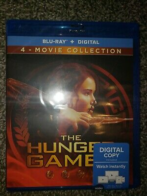 The Hunger Games: Complete 4 Film Collection (Blu-ray+Digital) Lot
