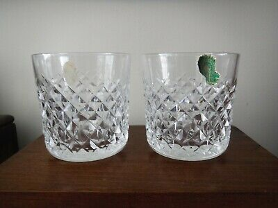 Lot Of 2 Waterford Crystal Alana Old Fashion Whiskey Glasses