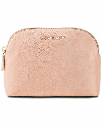 e467545ea1a7 NWT Michael Kors Medium Leather Travel Pouch Clutch Cosmetic Case Soft Pink