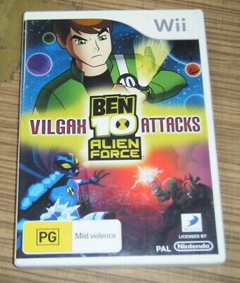 BEN 10 ALIEN Force Vilgax Attacks Wii Game USED - $15 95