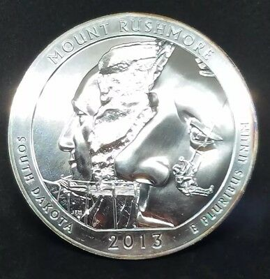 2013 5 oz Silver ATB Mount Rushmore National Park, SD