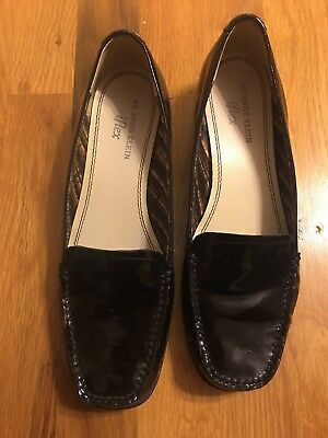 50cce564651 Women s Anne Klein Black Patent Leather iFlex Akvama Loafers Size 7M Nice!
