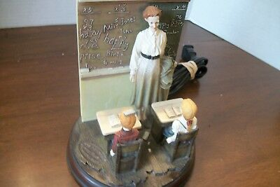 Vintage Norman Rockwell The Saturday Evening Post Teacher Lamp - GUC