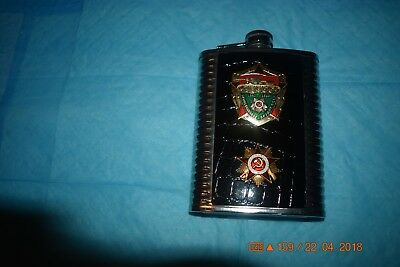 Pirate Treasure D2 Flask 8oz Stainless Steel Hip Drinking Whiskey