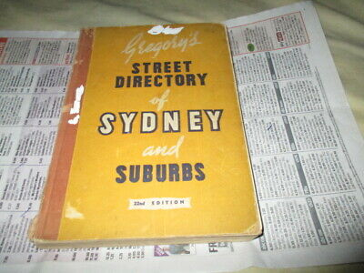 Gregory's Street Directory - Sydney - 22Nd Edition