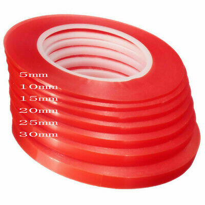 RED Adhesive Double Side Tape Strong Sticky For Cell Phone LCD Screen 5MM-30MM