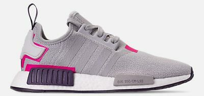 official photos 7aa0d 436a1 ADIDAS ORIGINALS NMD R1 RUNNER MESH WOMEN's GREY TWO - SHOCK PINK AUTHENTIC  NEW