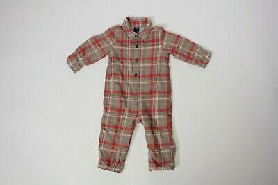 Baby Gap cotton lined flannel jumpsuit boys 18-24 months one piece