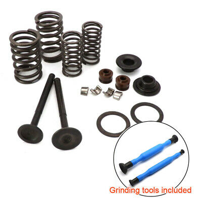GY6 Scooter 69mm INTAKE EXHAUST Valves + Lapping Sticks 139QMB QMA 50cc 80 100cc