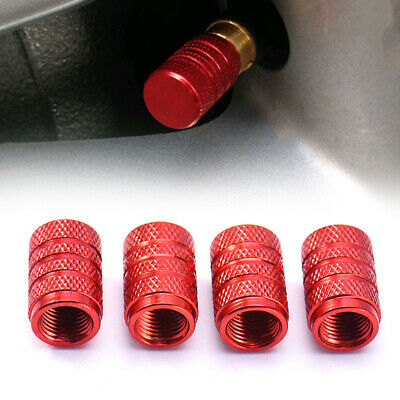 4pcs Aluminium Car Wheel Tyre Valve Stems Air Dust Cover Screw Cap Accessories
