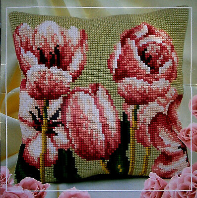 Collectioin D'Art Cross Stitch Cushion Cover Kit NEW Craft Tapestry Needlepoint