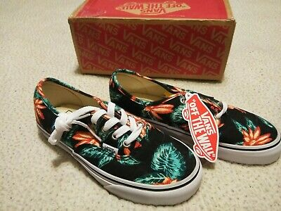 83eaa8fc2c Vans Authentic Vintage Aloha Black True White Men s Size 4.5 Women s Size 6